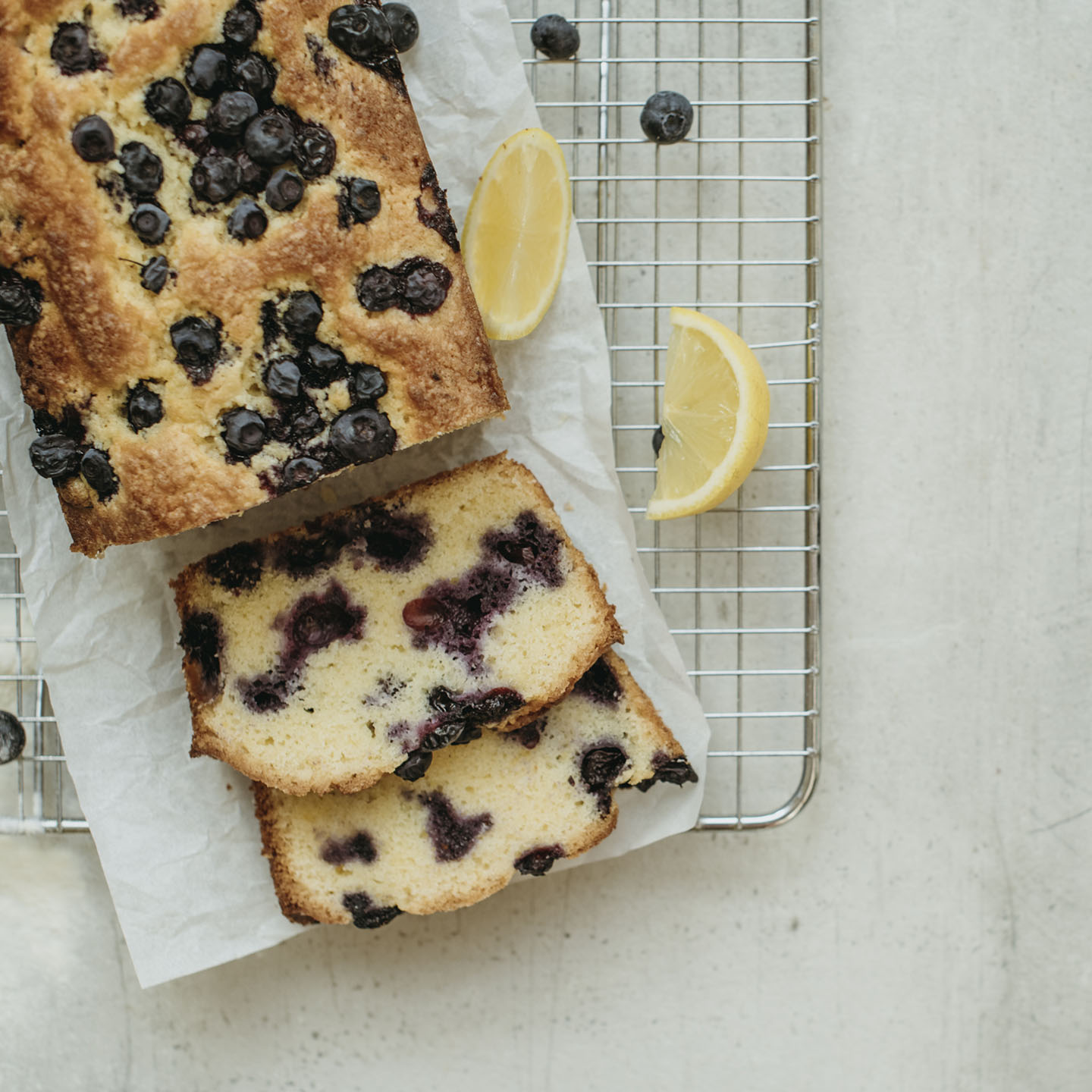 Le Moulin - Les recettes - Lemon and blueberry cake