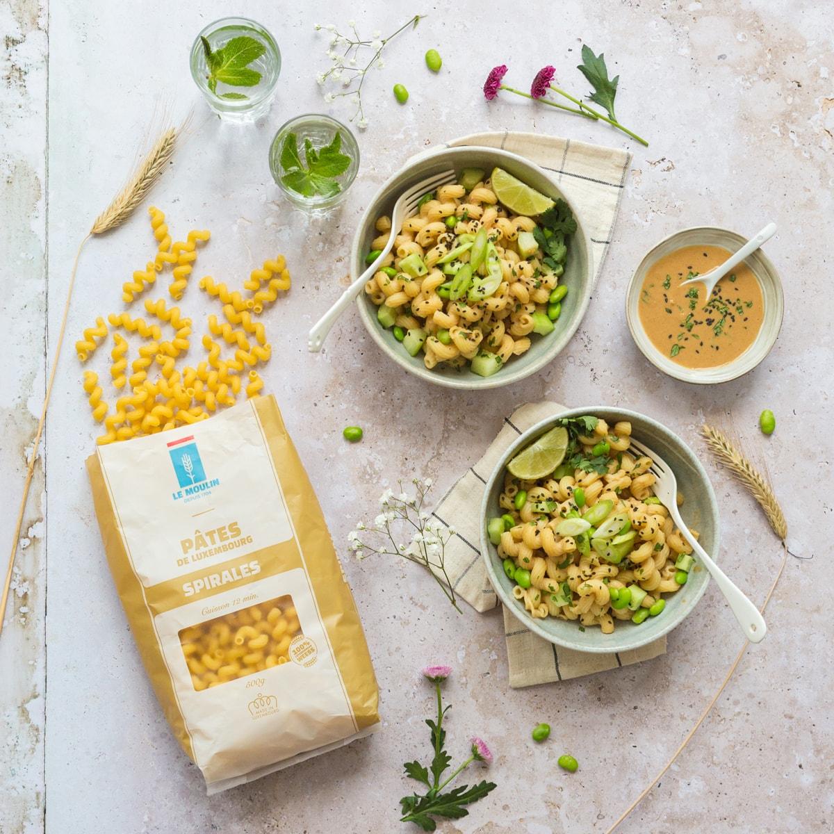 Le Moulin - Recettes - Asian pasta salad with peanut butter